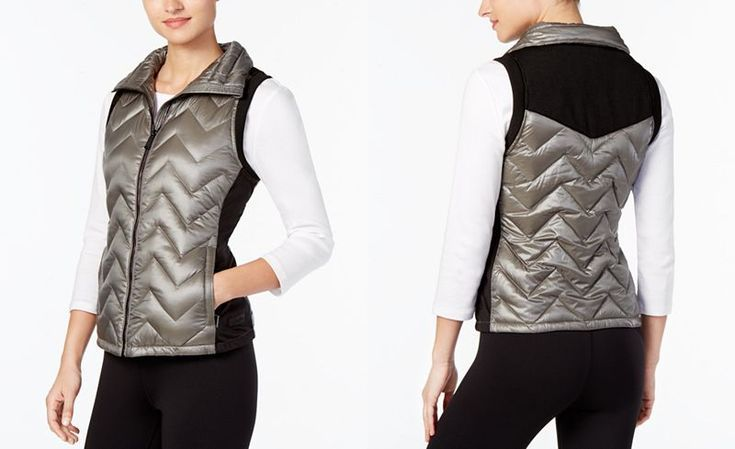 Calvin Klein Performance Chevron Quilted Down Vest Where Function Meets Street Style To Create A Warm Yet Cool Blazer Jackets For Women Stylish Vests Fashion