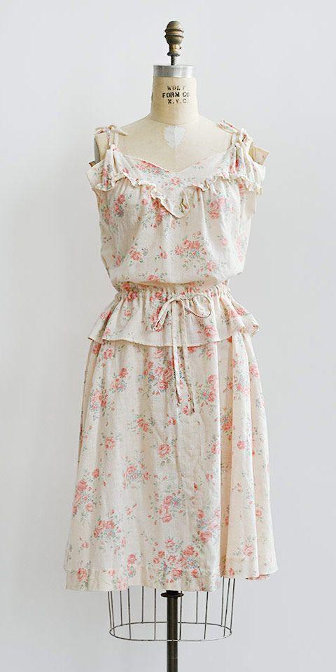 Penryn Cottage Dress / Vintage 1980s Floral Dress from Adored Vintage
