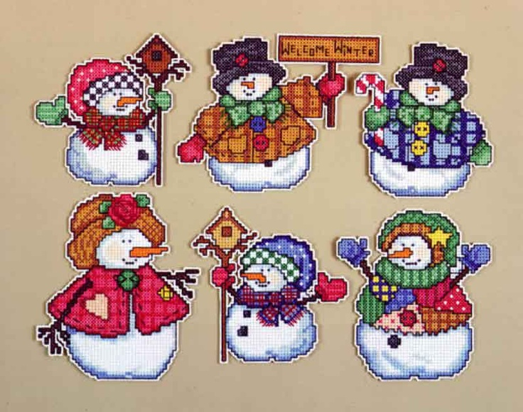 Design Works Counted Cross Stitch Kit WELCOME WINTER Ornaments