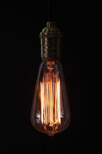 Empirical Style Edison light bulb.