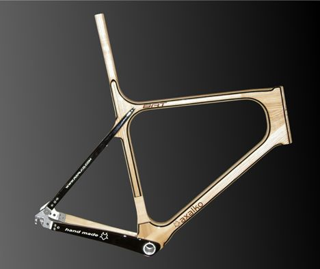 Axalko bicycle by Txirbil Kooperativa, another amazing looking wooden frame...