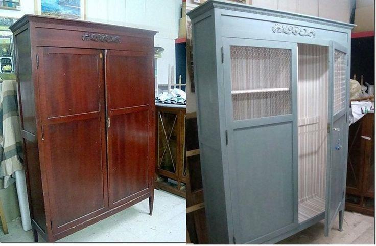 Cómo suavizar el aspecto de un armario antiguo para adaptarlo a la habitación del bebé.