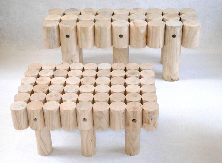 Transformer Table Basse En Banc ~   En Rondin Sur Pinterest  Meubles En Rondins, Bancs Et C?dre Blanc