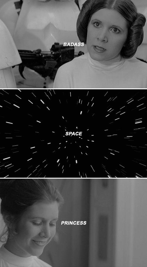 badass space princess #starwars