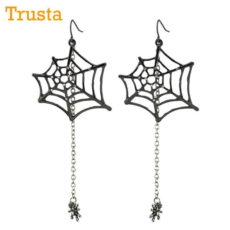 "Trusta Ladies Fashion Jewelry Black Spiders 3.5""Dangle Drop Earrings //Price: $7.95 & FREE Shipping //     #stylish"