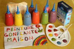 Peinture gonflante, puff paint maison