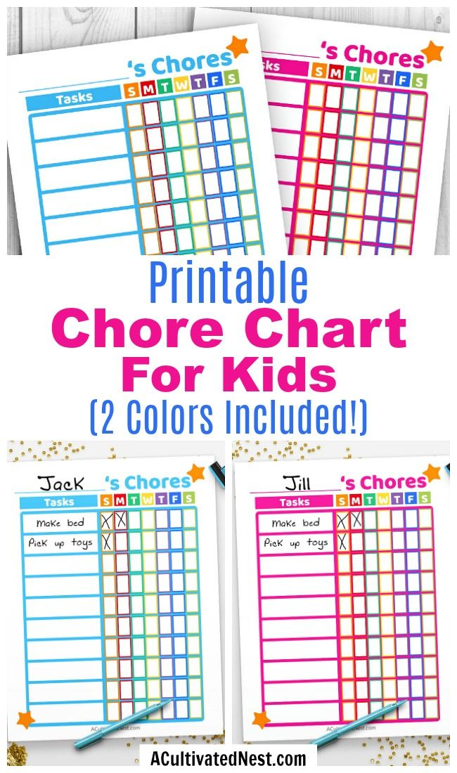 83e8cc57c41 Printable Kids Chore Chart- If you want your kids to remember to do their  chores
