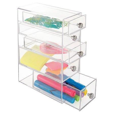 InterDesign Desktop Storage Unit - Clear : Target