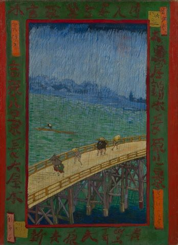 Bridge in the Rain (after Hiroshige) - Van Gogh Museum