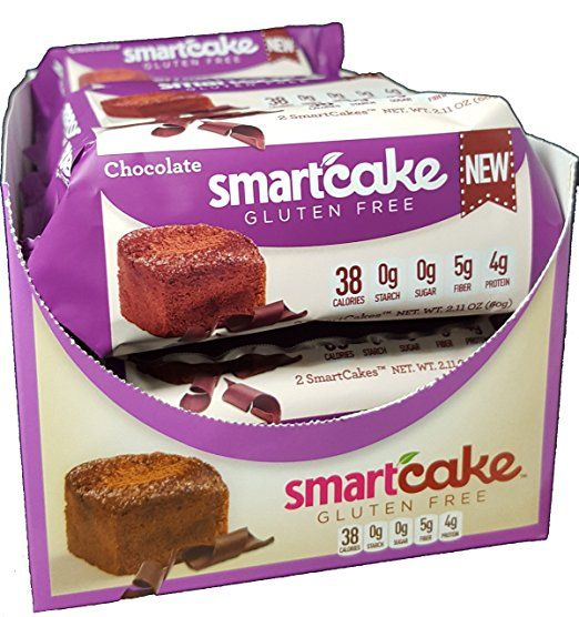 Chocolate SmartCAKE: Gluten Free and low Carb (8 x 2-packs)