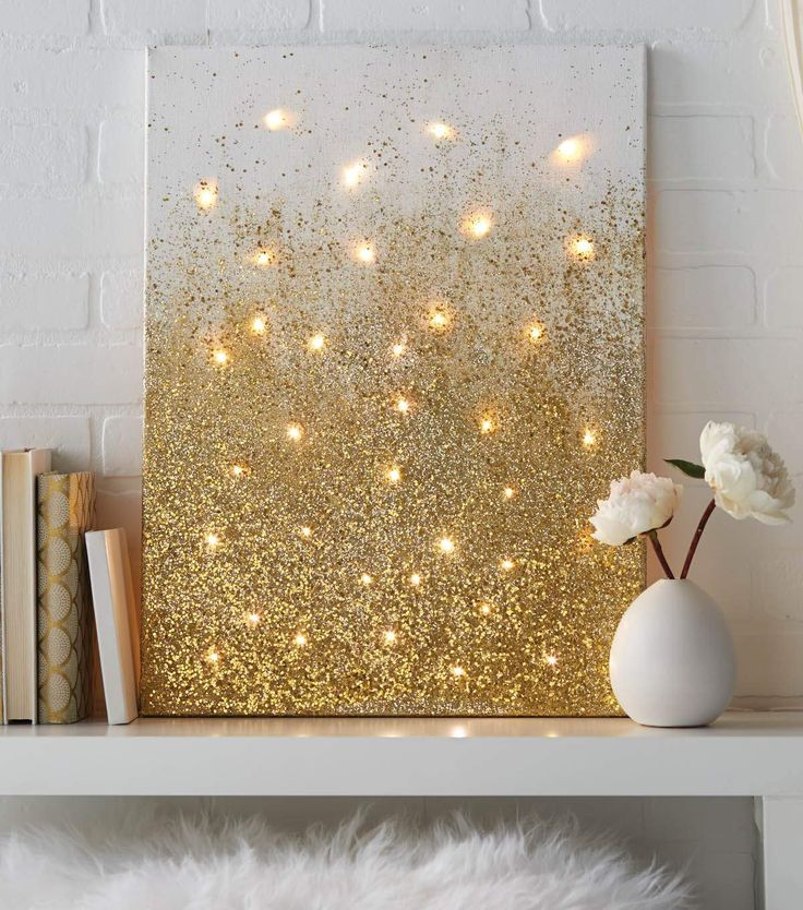 Wall Decor With Glitter : Best ideas about glitter canvas on