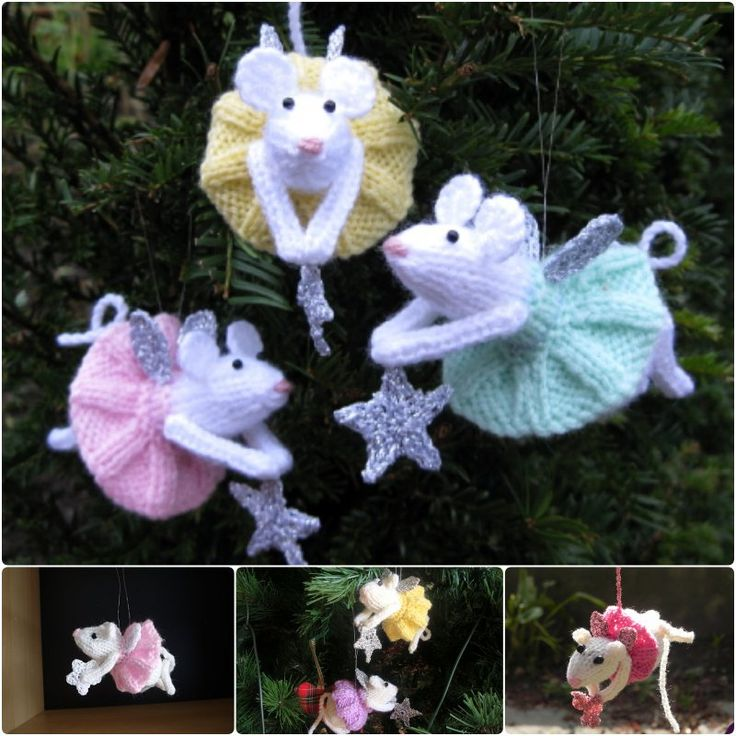 Free Furry Fairies Christmas Ornament Knitting Patterns