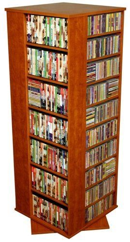 Revolving Media Storage Tower In Cherry