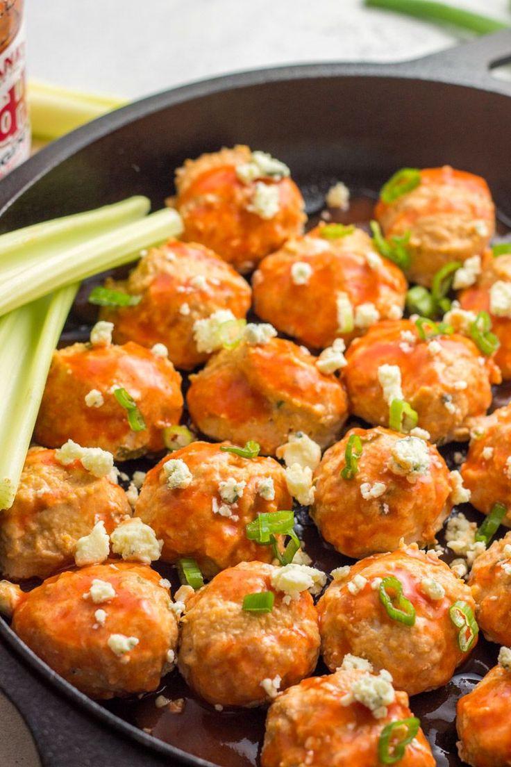 Best 25+ Buffalo chicken meatballs ideas on Pinterest | Buffalo meatballs, Keto meatballs and ...