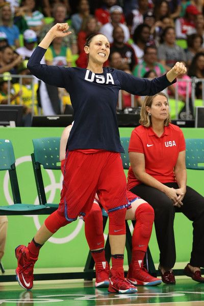 Diana Taurasi Photos - Diana Taurasi #12 of United States reacts on the bench during the women's basketball game against Canada on Day 7 of the Rio 2016 Olympic Games at the Youth Arena on August 12, 2016 in Rio de Janeiro, Brazil. - Basketball - Olympics: Day 7