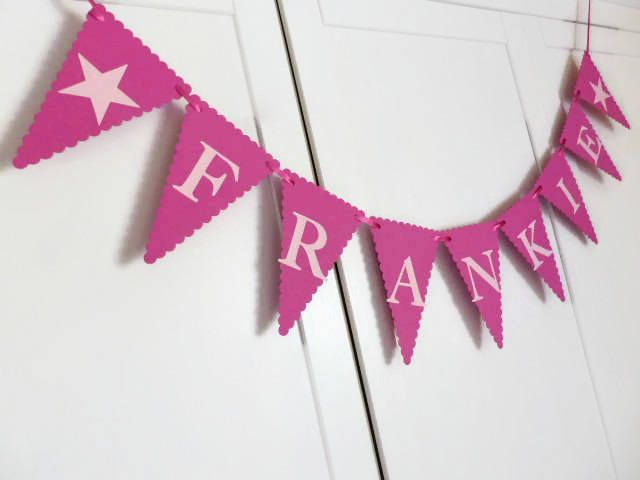 Custom Banner - Personalised Bunting - Girls Name Banner - Birthday - Baby Shower #etsy #noolys http://etsy.me/2Hin8Uk