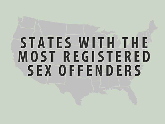 Number of sex offenders by state
