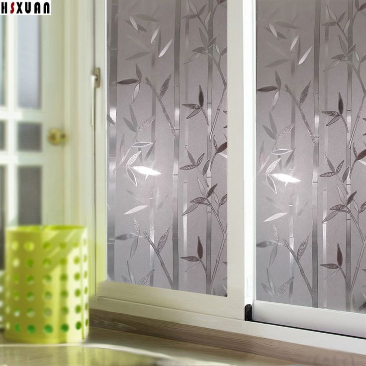 decorative window privacy film frosted bamboo tree self-adhesive waterproof sliding window stickers Hsxuan brand 0822