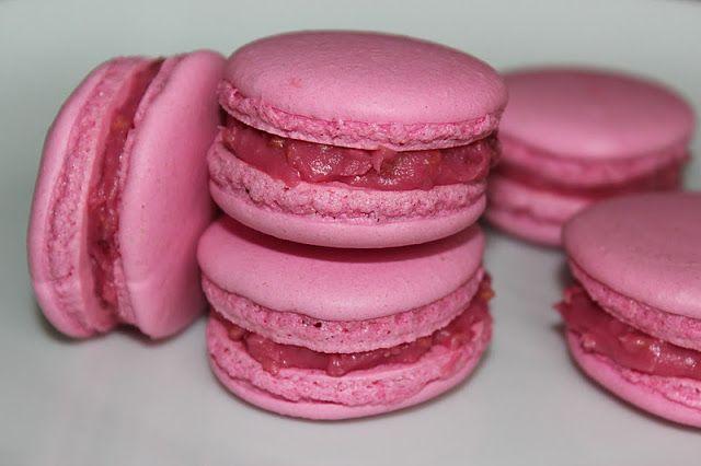 Mat med Suss: Macarons med vit choklad- och hallonganache