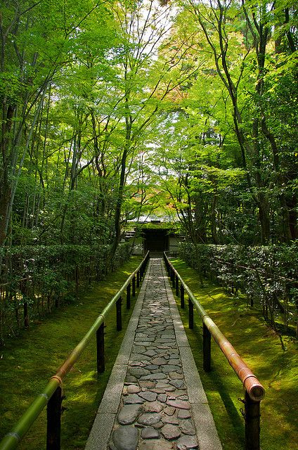 Visit Kyoto, Japan in early summer. Daitoku-ji temple, Koto-in Zen Temple