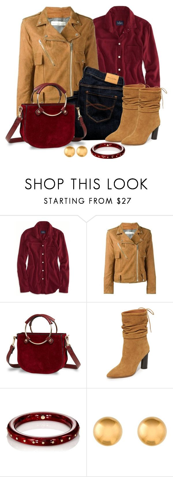 """""""Untitled #1544"""" by gallant81 ❤ liked on Polyvore featuring American Eagle Outfitters, Golden Goose, Abercrombie & Fitch, IRO and Mark Davis"""