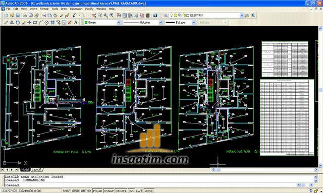 Örnek elektrik projeleri (dwg) - Asansörlü 5 Katlı İşhanı Elektrik Projesi - Yangın İhbar ve Acil Aydınlatma Projesi - Fabrika Telefon, Kablolu TV ve Elektrik Tesisat Projeleri - Devlet Hastanesi (Elektrik-Zayıf Akım-Yangın-Paratoner) Projesi - Tribleks Villa Elektrik & Zayıf Akım Projeleri - Elektrik Şantiye Projesi - Apartman Elektrik ve Zayıf Akım Projeleri vb.