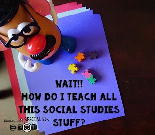 Ways to make Social Studies work in the Special Ed Classroom with so many levels.