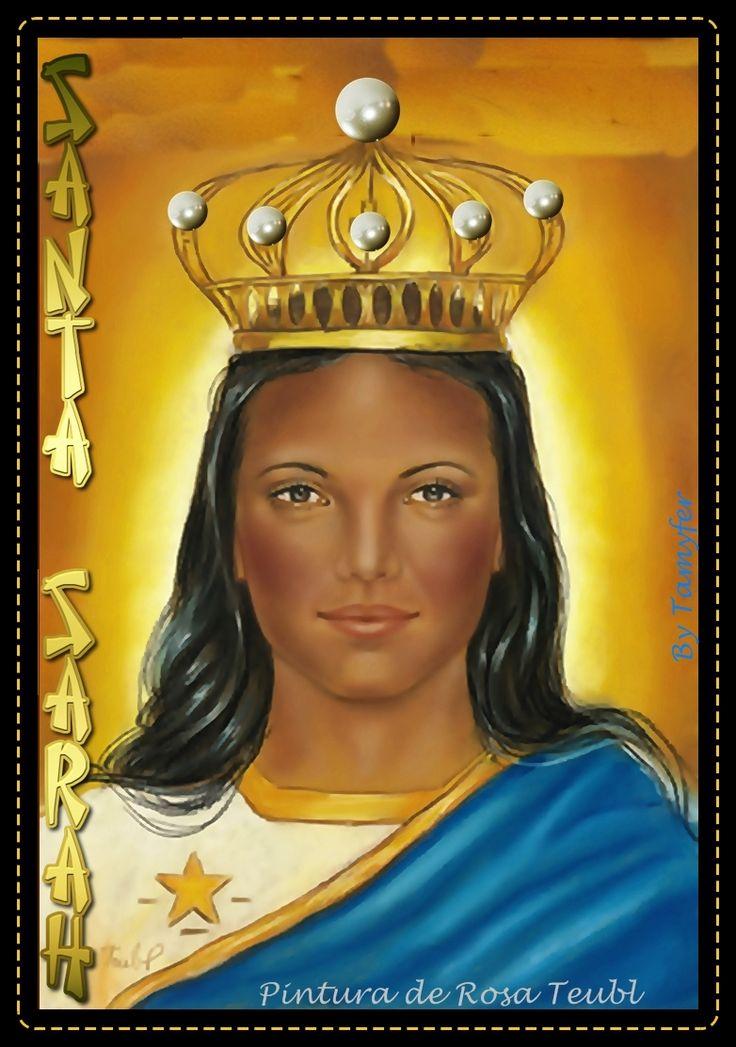 SANTA SARAH KALI SANTA DOS CIGANOS CIGANA POVO CIGANO Protetora do povo cigano Santa Cigana  24 DE MAIO