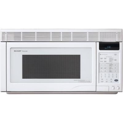 Sharp 1.1 cu. ft. Over-the-Range Convection Microwave in White-R1871T - The Home Depot