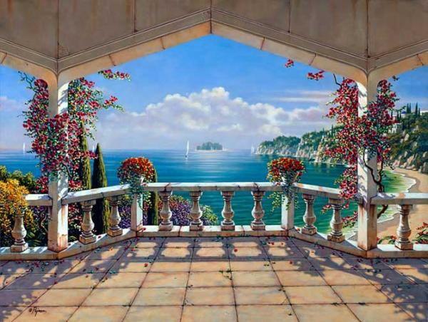 "Robert Pejman (born 1962) ~ ""Santorinivilla"""