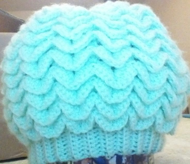 Crocodile Stitch Crochet Slouchy Beanie by EccentricHats on Etsy