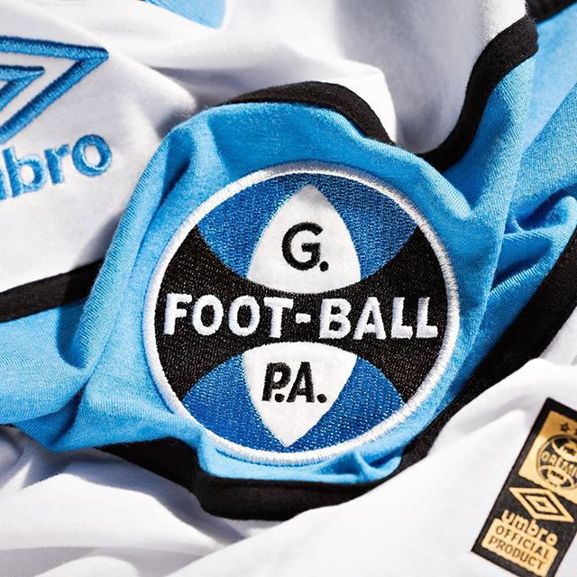 Vintage Fresh. @umbro release two @gremiooficial shirts of pure might. Delicious. See more online: www.soccerbible.com #soccerbible #umbro #gremio