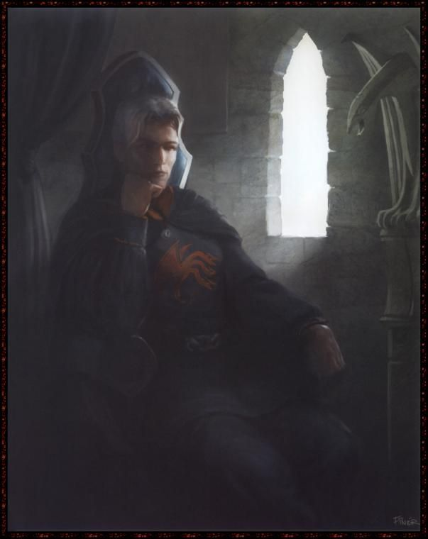 Prince Rhaegar Targaryen was a member of House Targaryen. He was the eldest son of King Aerys II Targaryen and, as heir-apparent, Prince of Dragonstone and crown prince for the Iron Throne. Rhaegar was popular with the smallfolk during his life.