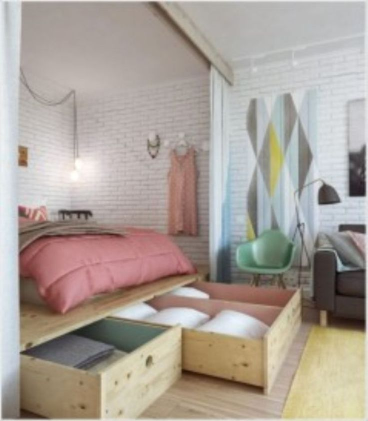 10 Creative Examples For Dividing Small Spaces: Best 25+ Apartment Space Saving Ideas On Pinterest