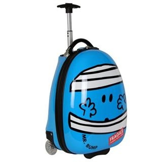 Mr Men Kids Suitcase. Hand Luggage 16inch. Mr Bump. £24.99.