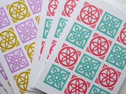 Moroccan tile patterns by Fine Day Press $4