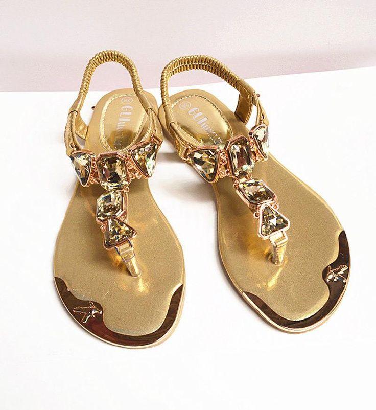 [Visit to Buy] Women Sandals shoes 2017 new fashion Rhinestone shoes woman Sandals ladies shoes #Advertisement