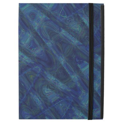 Abstract Sine Waves Blue iPad Pro Case - photography picture cyo special diy