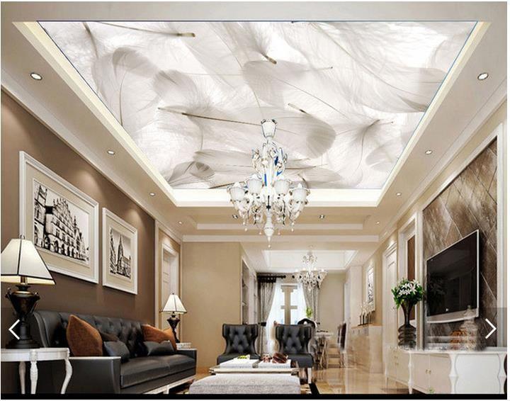 Goedkope 3D behang custom 3d plafond behang muurschilderingen Droom veer fresco behang 3d woonkamer foto behang, koop Kwaliteit wallpapers rechtstreeks van Leveranciers van China: