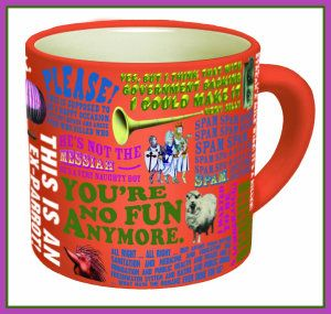 This mug features no less than 20 quotes from the legendary comedy team. It is shorter and fatter than other mugs but still holds the same amount of liquid in it. http://theceramicchefknives.com/ceramic-mugs-variety/ 60th Birthday mug, 7 Piece 15-Ounce Mug Tree Set with 6 Assorted Colors, Adorable Ladybug Coffee Mug Inexpensive Gift Item, Cappuccino Mug, Cappuccino-Cup, Ceramic Day of the Dead Sugar Skull Coffee Mugs,
