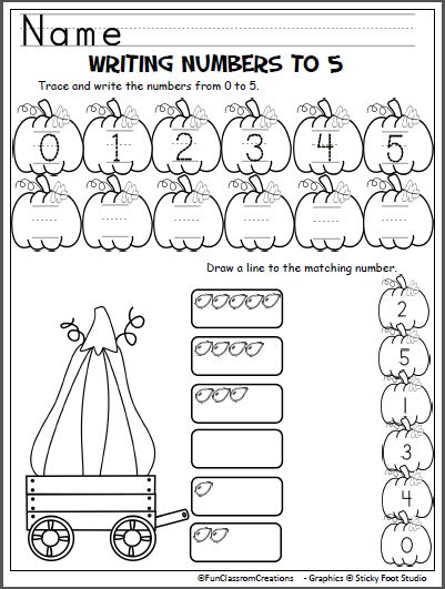 Practice writing numbers to 5 with this cute free pumpkin worksheet. Perfect for fall, harvest time, Halloween, and October. This free page is part of my Pumpkin Numbers Packet Get the entire Pumpk…