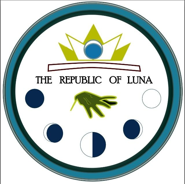 """By Tina. """"I imagine the Lunar insignia like this because it represents the strong presence of their queen, as well as the pride they take in their powers. I added the phases of the moon because it reminded me of a conversation between the Queen and Kai in which she noticed that the date of the ball was based on the phases of her country! :3"""""""