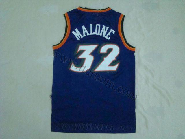 quality design 9b65a aba86 Utah Jazz #32 Karl Malone Purple Hardwood Classic Jersey ...
