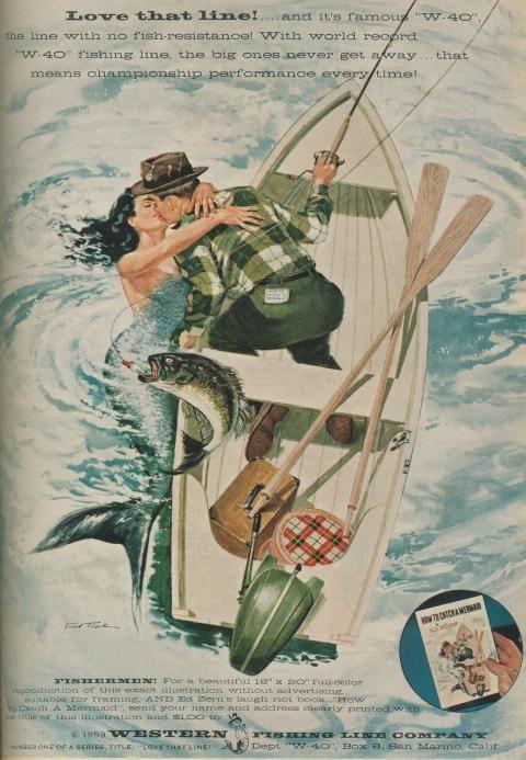 Vintage fishing advertising
