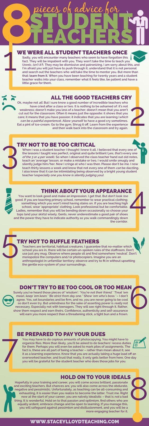 Advice to student teachers