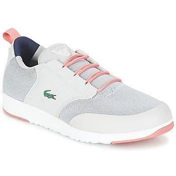 Zapatillas Lacoste gris con blanco