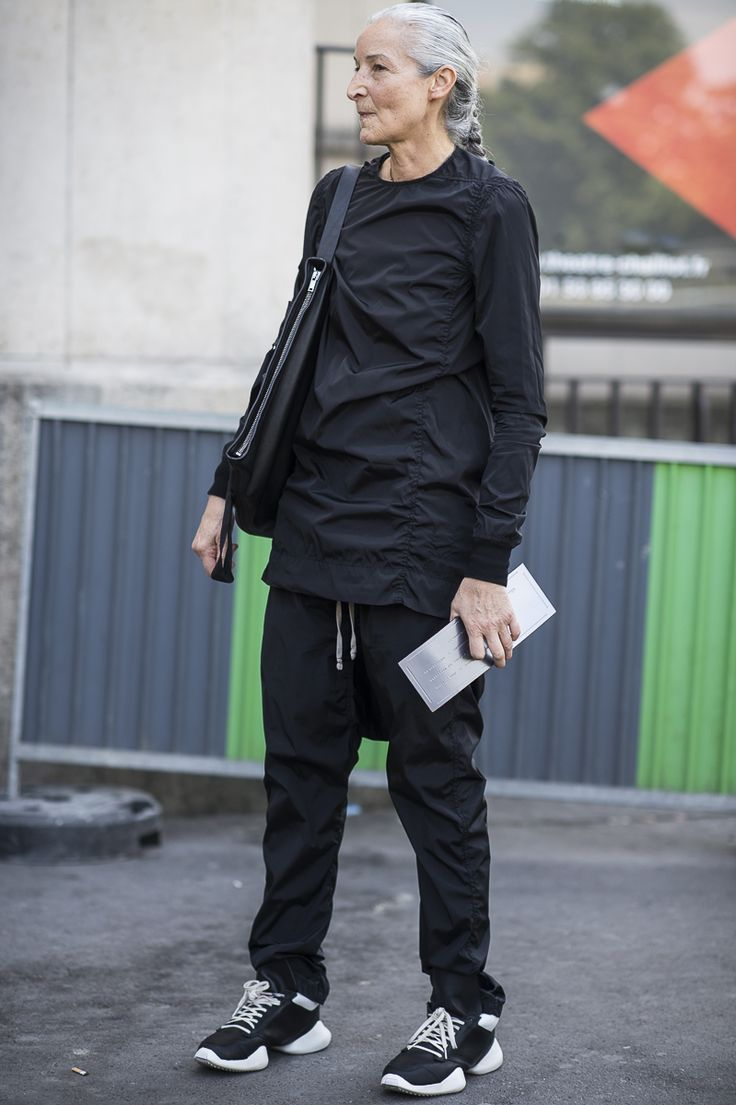 Rick Owens total look i wish i could gre old like she does. just gorgeous!