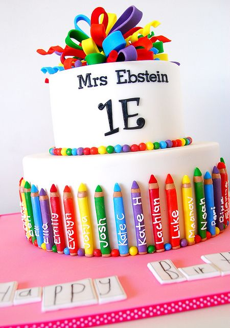 Teacher cake by Jen Geha, via Flickr