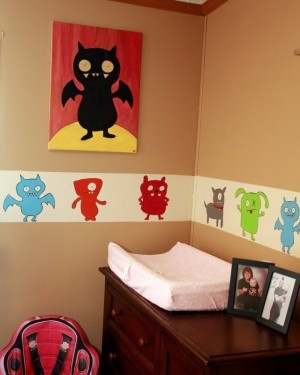 Sydney's Ugly Dolls and monsters nursery | Offbeat Mama