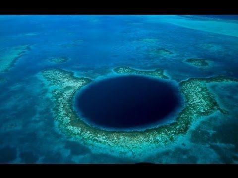 AGUJEROS AZULES GIGANTES O CUEVAS SUBMARINAS. El gran agujero azul de Belice - YouTube